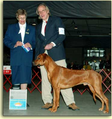 Durban and Brad in the show ring